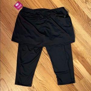 Skirt with built-in Capri leggings